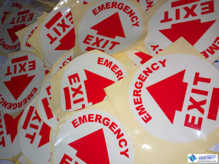 Glow in the Dark Stickers - Emergency Exit Signs