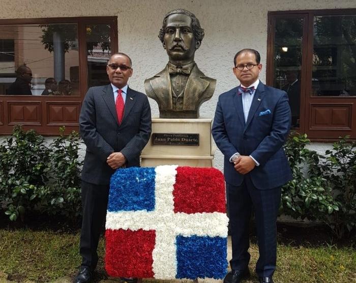 Nuevo busto de Juan Pablo Duarte en Colombia