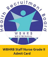 WBHRB Staff Nurse Grade II Admit Card