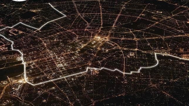 Berlin y los globos de la conmemoracion de 25 años de la caida del muro de Berlin