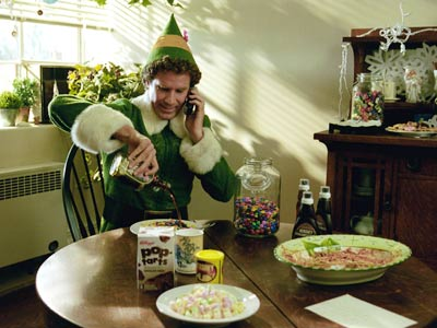 Buddy at breakfast in Elf 2003