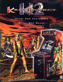 Killer INstiNct 2 arcade game portable flyer