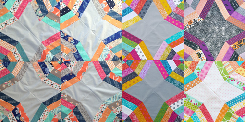 Webbed Quilt Pattern - In Color Order
