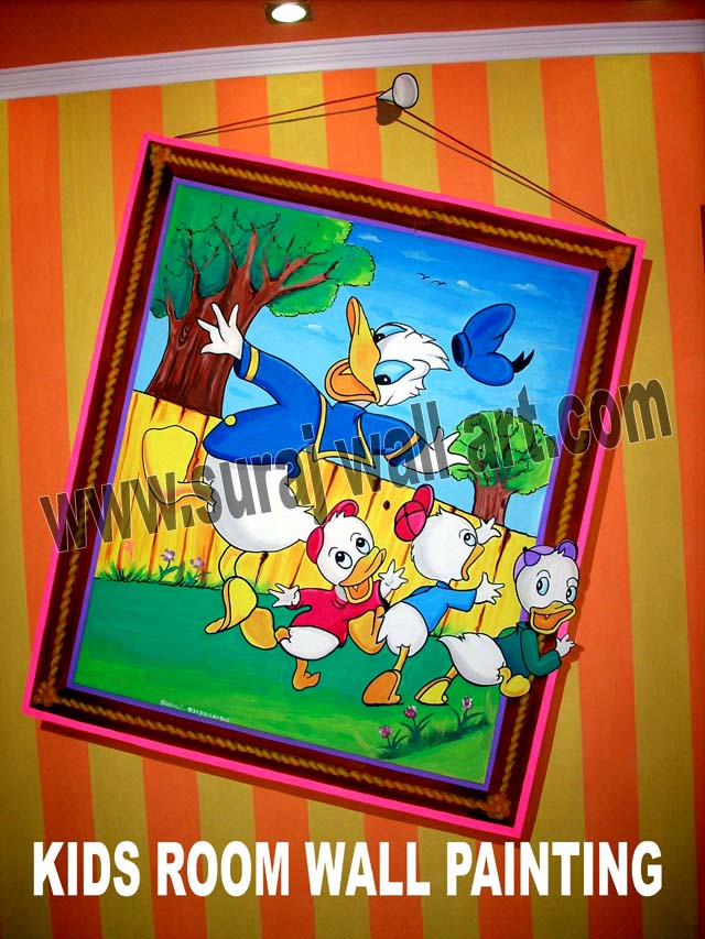 suraj wall art: kids room wall painting delhi