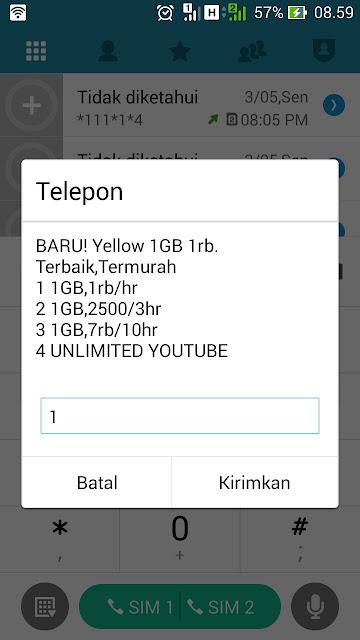 paket internet indosat 1000 1gb