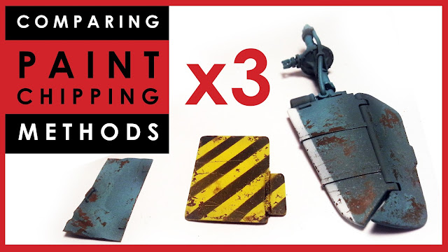 Comparing paint chipping methods for scale models
