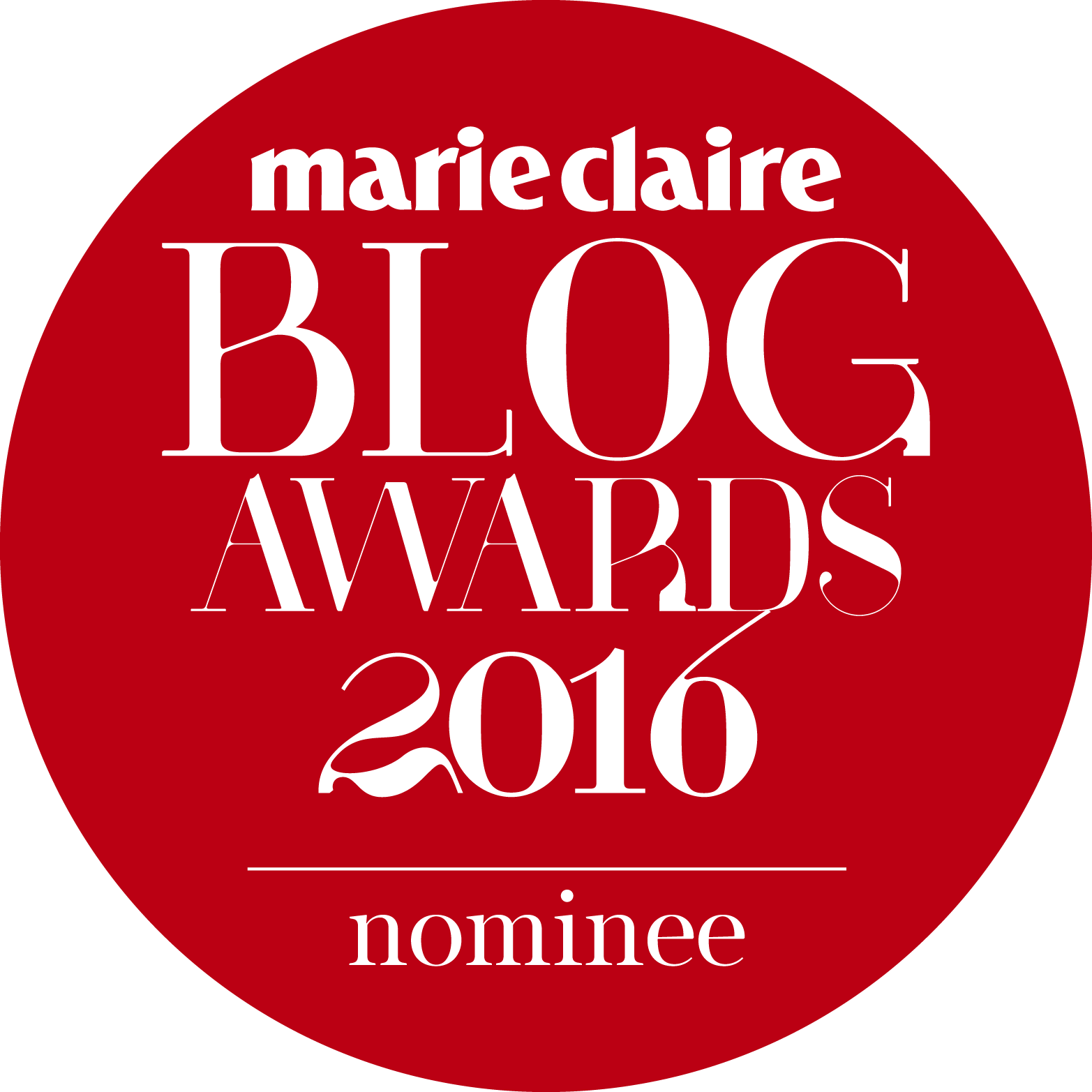 Marie Claire Blog Awards 2016 Nominee
