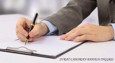 Gambar untuk Contoh Surat Lamaran Kerja dalam Bahasa Inggris dan Artinya