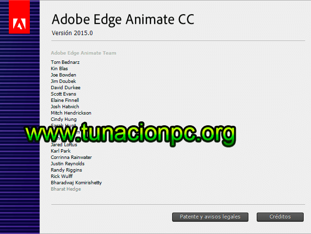 Adobe Edge Animate CC 2015 para windows y macos