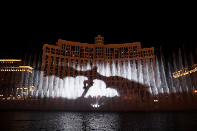 Exclusive Game of Thrones Production on The Fountains of Bellagio - Dragon