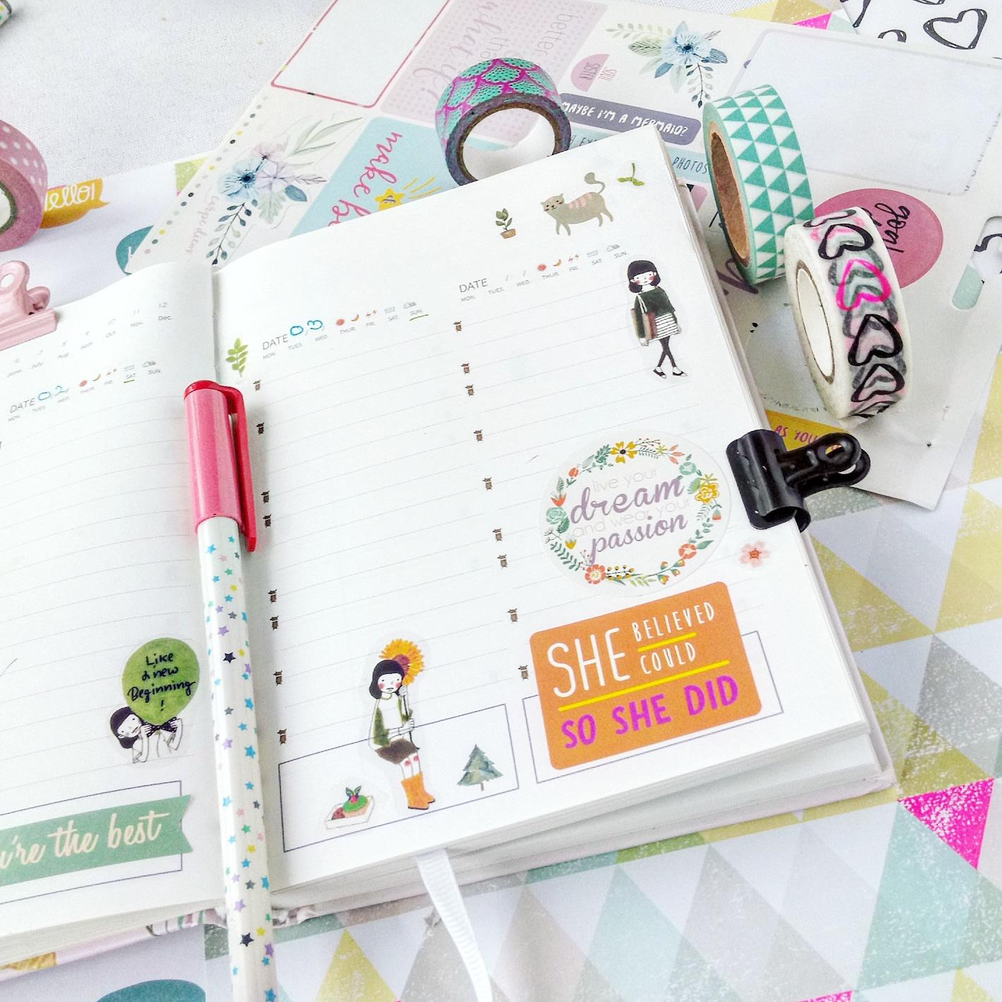 jak dekorować planner, jak prowadzić planner, co zapisywać w planerze
