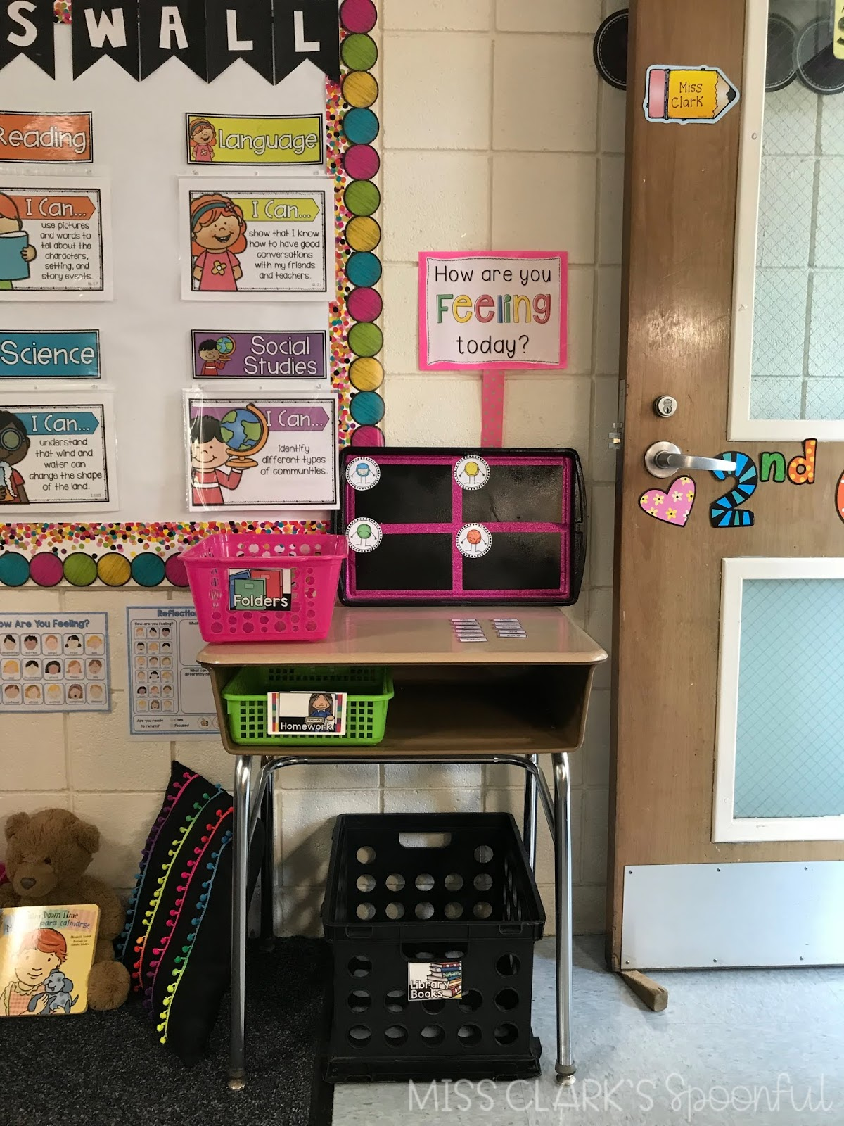 learning with love second grade objectives board