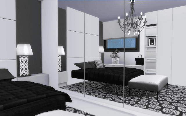 chambre moderne sims 4