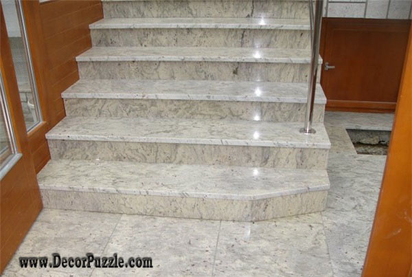River white Granite stairs, white granite floor tiles