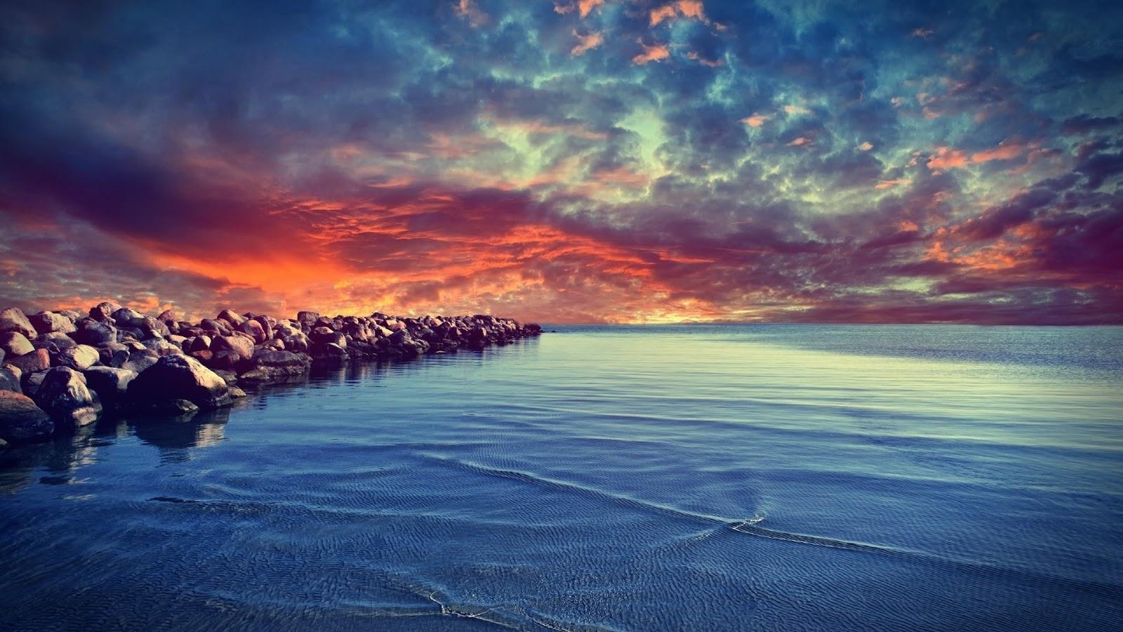 Nice Sunset in the coast