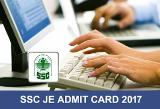 SSC JE Admit Card 2017, SSC Junior Engineer Admit Card