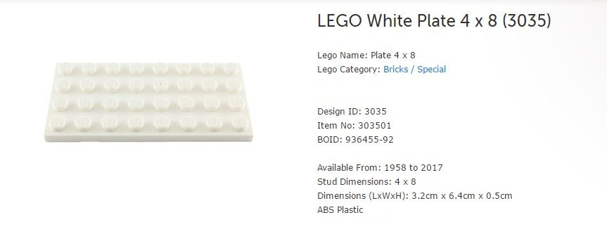 4 Pieces Per Order NEW 4X8 Beige Light Brown Plates LEGO 3035