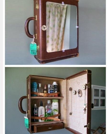 DIY de almacenaje reciclado con maletín