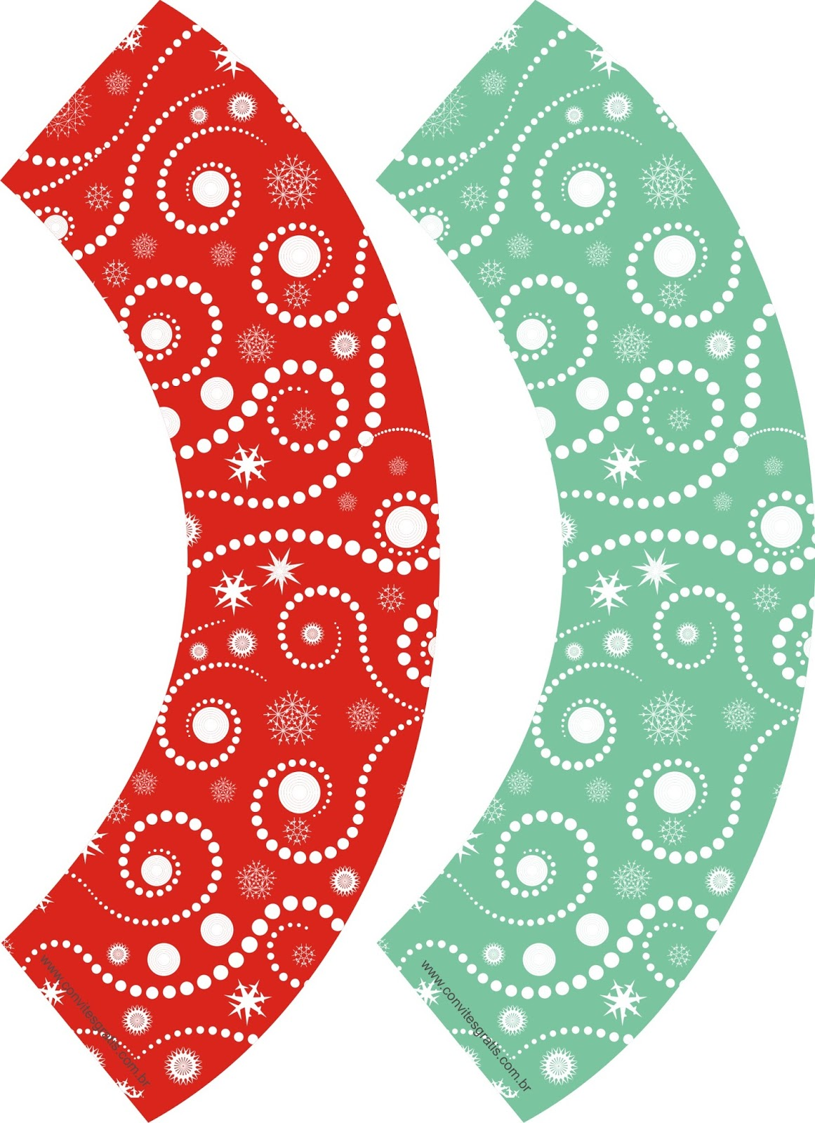 wrappers decoracao de natal gratis