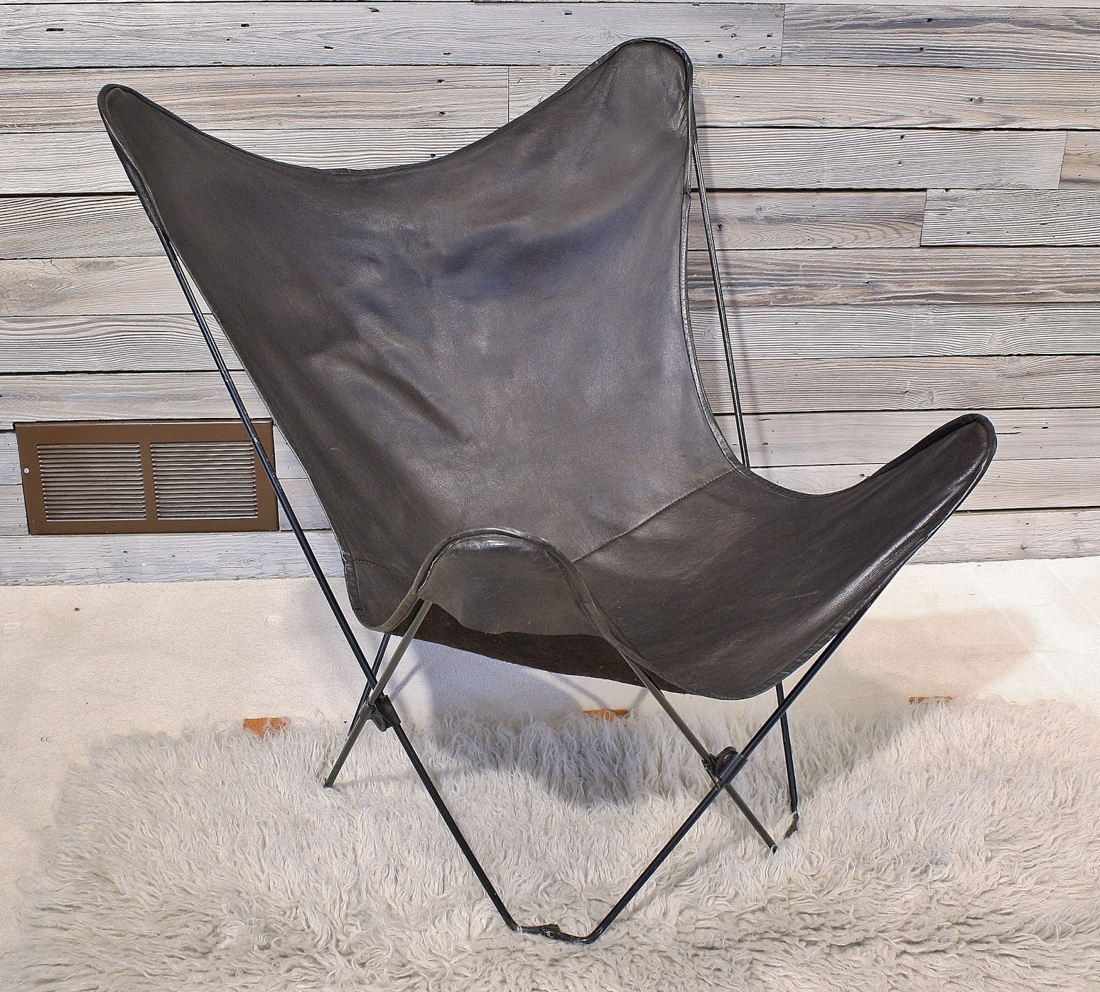 Brown Leather Butterfly Chair Modwerks Vintage Folding Leather Butterfly Chair