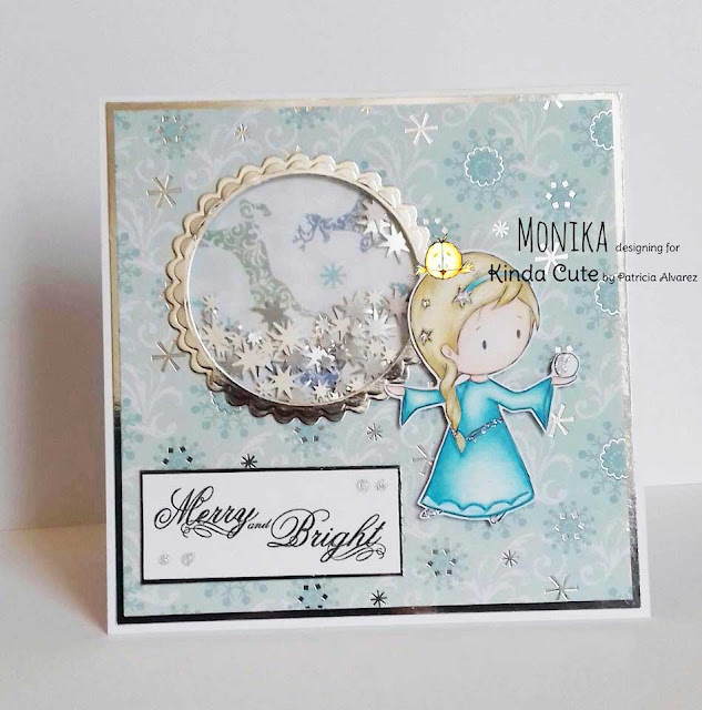 Christmas card with a snow Princess