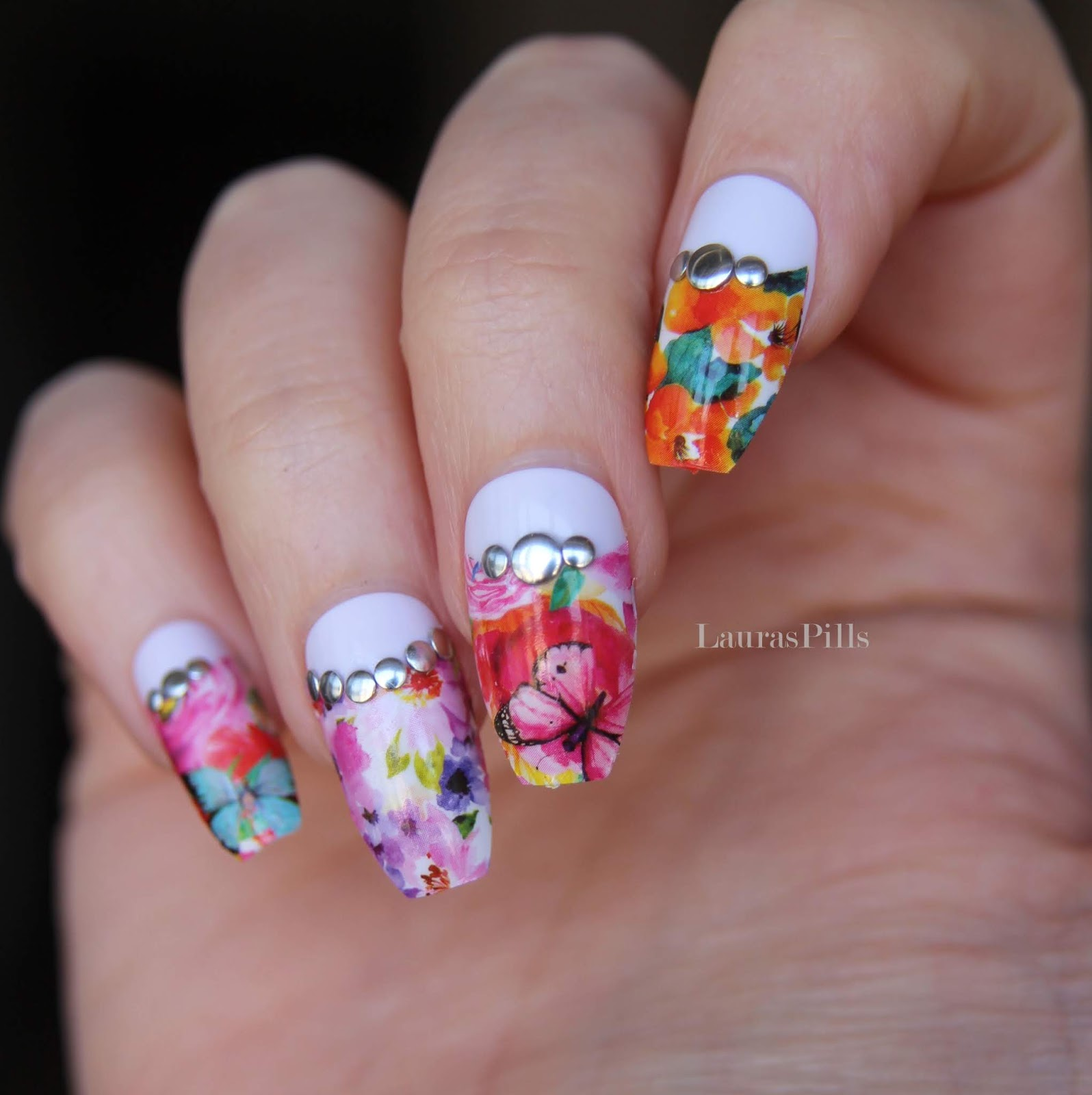 Lauras Pills Half Moon Spring Nail Art Water Decals From Born