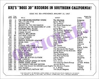 KHJ Boss 30 No. 80 - January 11, 1967