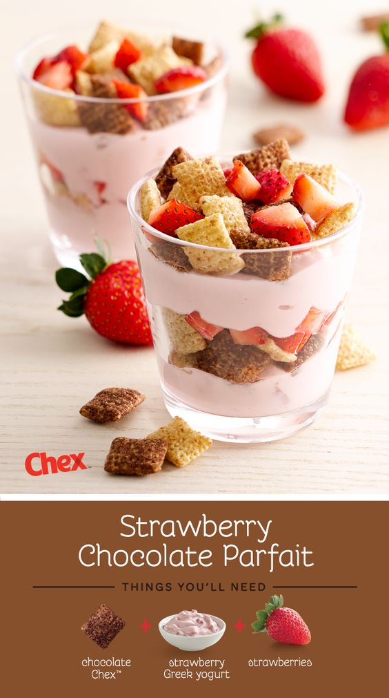 gluten free chocolate strawberry parfait