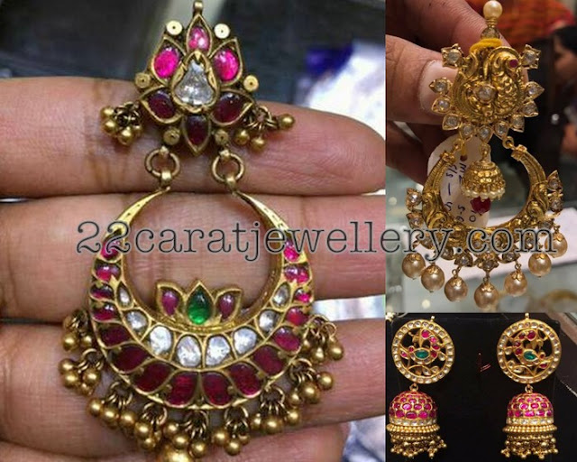 Antique Chandbalis with Jhumkas