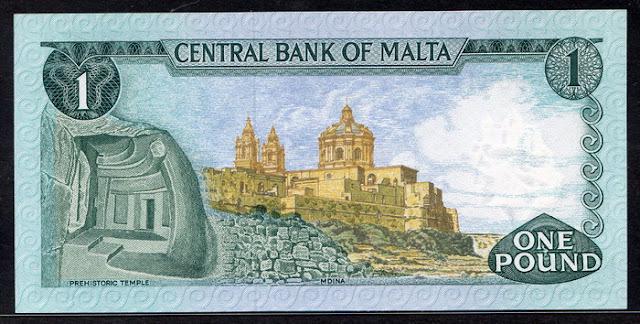 Malta currency lira banknote