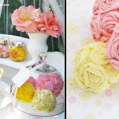 DIY Bridal Shower Paper Flower Pomander for GetMarried