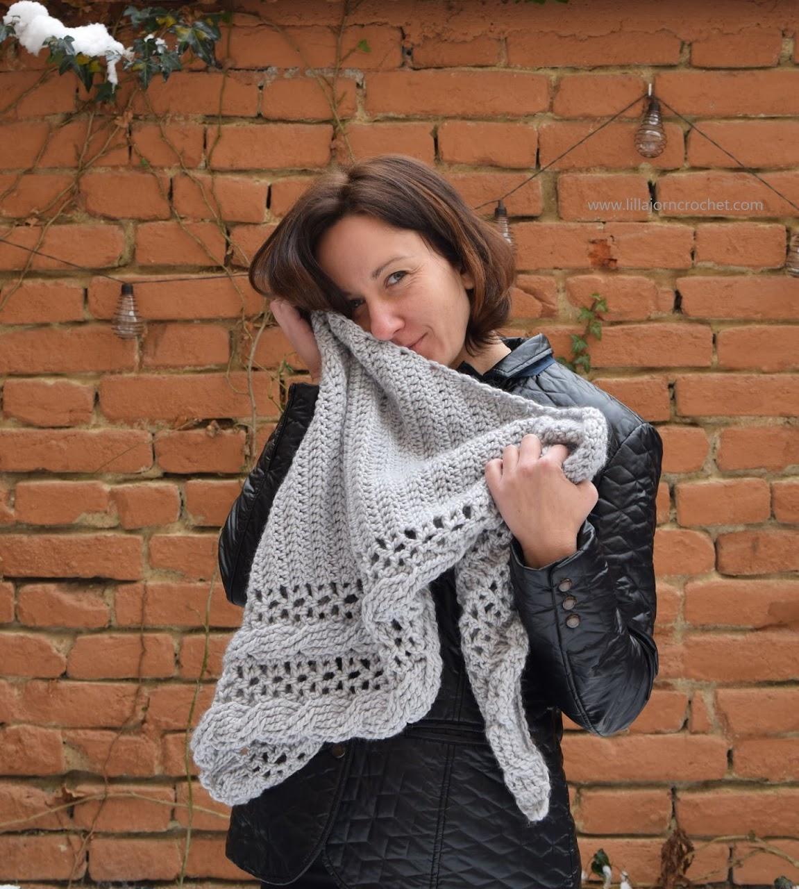 Living Lagom Shawl. FREE crochet patetrn by www.lillabjorncrochet.com