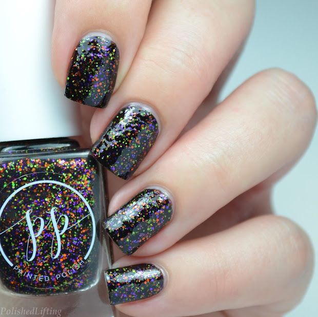 witch halloween nail art featuring