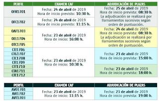 fechas y adjudicaciones ADIF