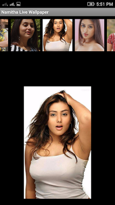 Namitha 3D live Wallpaper For Android Mobile Phone