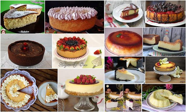 Maravillosas tartas de queso al horno. Julia y sus recetas