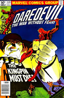 Daredevil v1 #170 kingpin marvel comic book cover art by Frank Miller