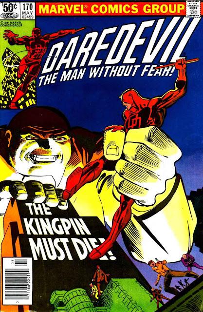 Daredevil v1 #170 kingpin marvel comic book cover art by Frank Miller