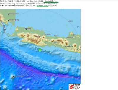 σεισμική δόνηση 6,5 βαθμών έπληξε το νησί της Ιάβας