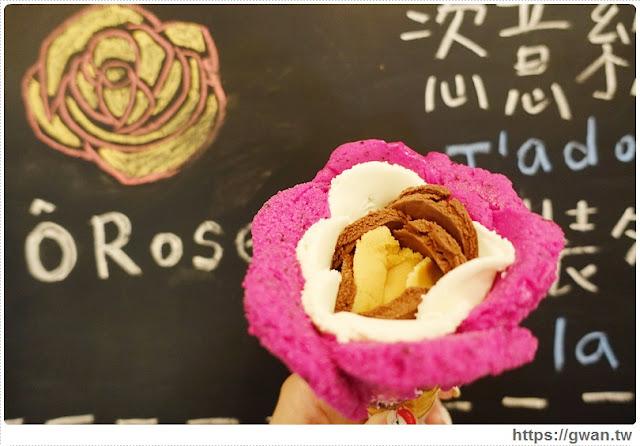 O Rose法式冰淇淋,捷運美食,捷運藍線美食,花朵冰淇淋,玫瑰花冰淇淋,少女甜點,夢幻甜點,手工冰淇淋,甜點下午茶,玫瑰花瓣,法國主廚-0