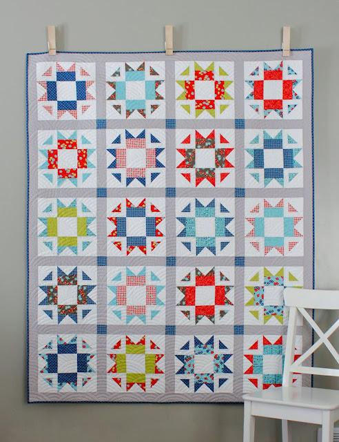 Skipper Quilt Pattern - fat quarter friendly pattern in four sizes