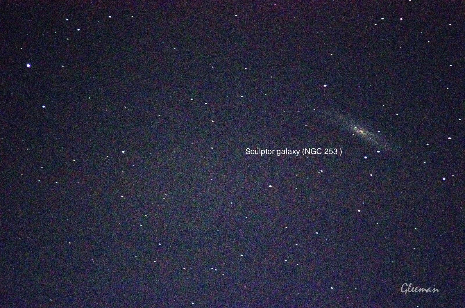 Sculptor Galaxy,  Silver Coin/ Pentax Pentax 75SDHF + 1.4XL + K5 ,O-GPS1 Astrotracer