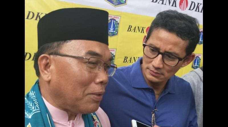Sandiaga Uno saat bertemu Walikota Jakarta Utara, Husein Murad