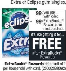 FREE CVS Eclipse Extra Gum  5-12-5-18