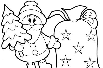 Gambar Mewarnai Tema Natal