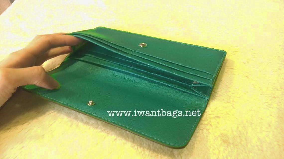 61a789715d5a6d Michael Kors Jet Set Travel Flat Saffiano Leather Wallet-Aqua