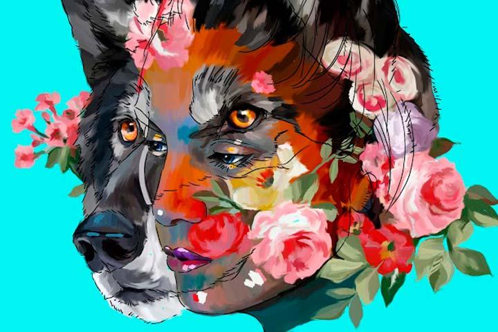 Ilustración, She wolf de Sergio Eduardo Hernández Flórez