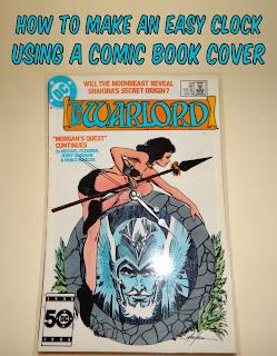Comic book cover clock