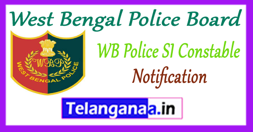 West Bengal Police SI Constable Warder Notification 2017-18 Application