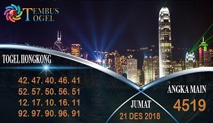 Prediksi Angka Togel Hongkong Jumat 21 Desember 2018